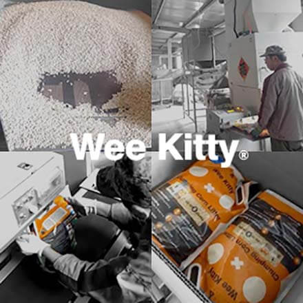 A montage of Wee Kitty factory photos