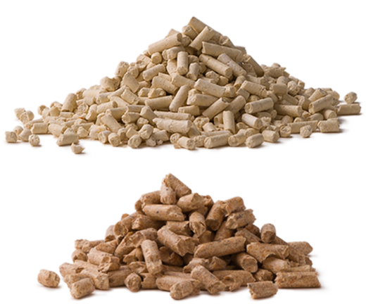 A medium-large and large granule cat litter