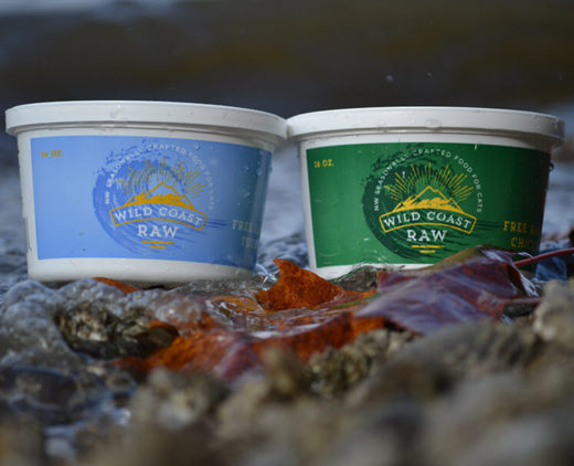 Two Containers of Wild Coast Raw Cat Food