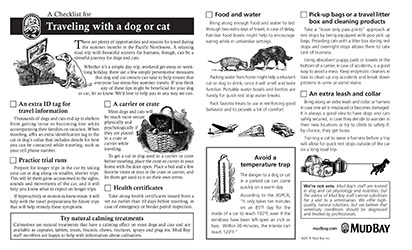 A Checklist for Traveling with a Dog or Cat Thumbnail