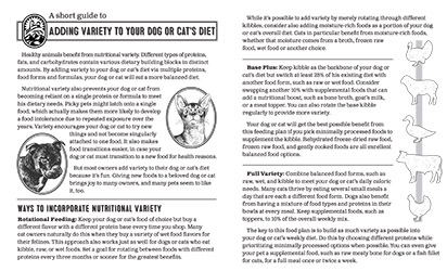 Adding Variety to Your Dog or Cat's Diet Thumbnail