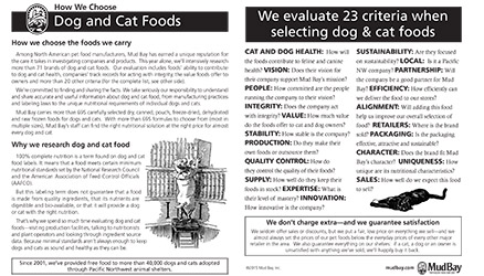 How We Choose Dog and Cat Foods Thumbnail