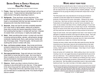7 Steps for Safely Handling Raw Pet Food Thumbnail