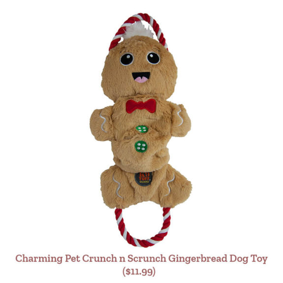 Charming Pet Crunch n Scrunch Gingerbread Dog Toy ($11.99)