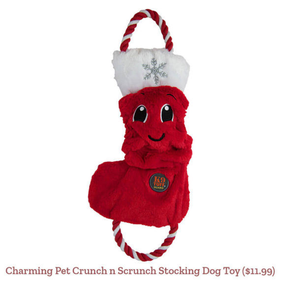 Charming Pet Crunch n Scrunch Stocking Dog Toy ($11.99)