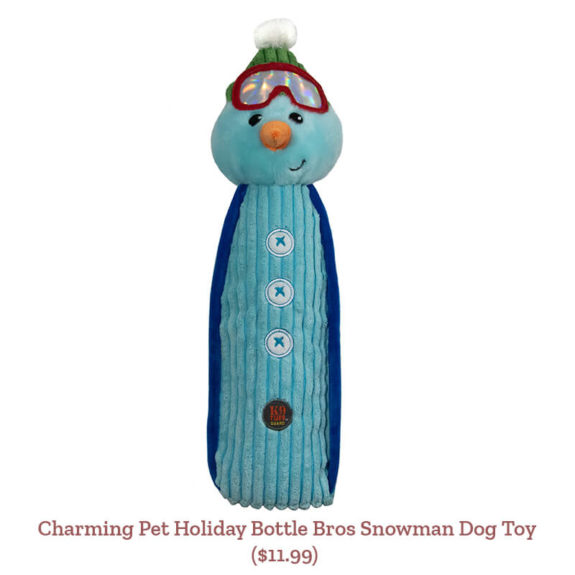 Charming Pet Holiday Bottle Bros Snowman Dog Toy ($11.99)