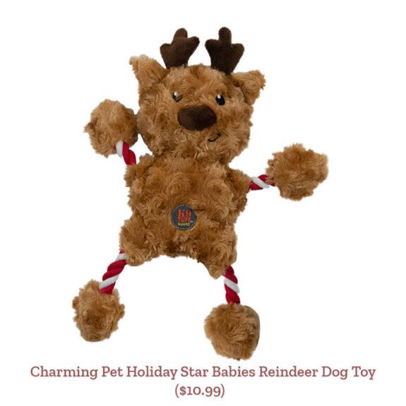 Charming Pet Holiday Star Babies Reindeer Dog Toy ($10.99)