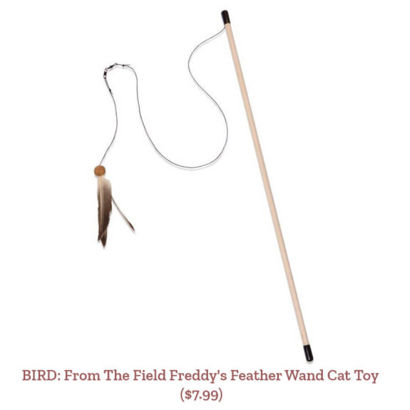 BIRD: From The Field Freddy's Feather Wand Cat Toy ($7.99)