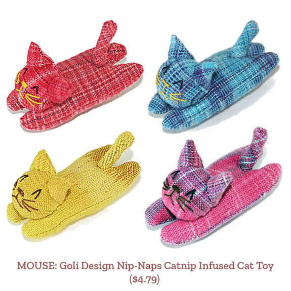 MOUSE: Goli Design Nip-Naps Catnip Infused Cat Toy ($4.79)