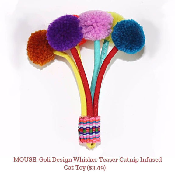 MOUSE: Goli Design Whisker Teaser Catnip Infused Cat Toy ($3.49)