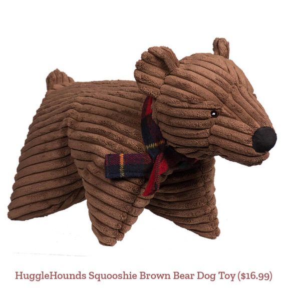 HuggleHounds Squooshie Brown Bear Dog Toy ($16.99)