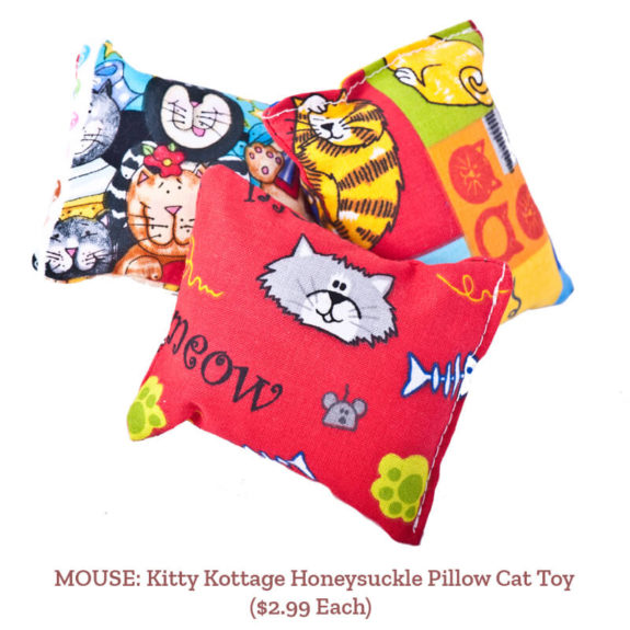 MOUSE: Kitty Kottage Honeysuckle Pillow Cat Toy ($2.99 Each)