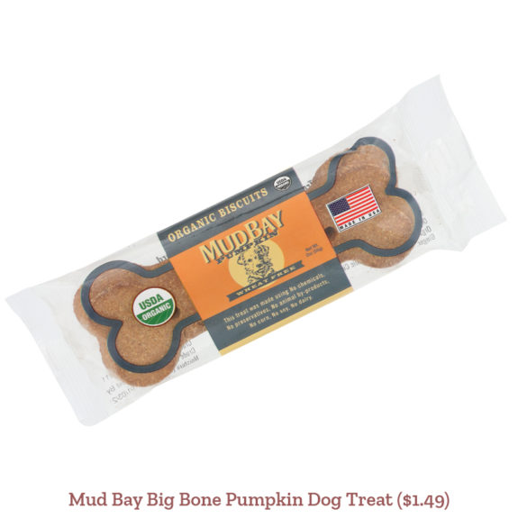 Mud Bay Big Bone Pumpkin Dog Treat ($1.49)