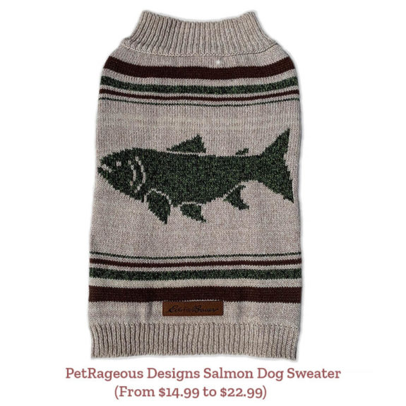 PetRageous Designs Salmon Dog Sweater (From $14.99 to $22.99)