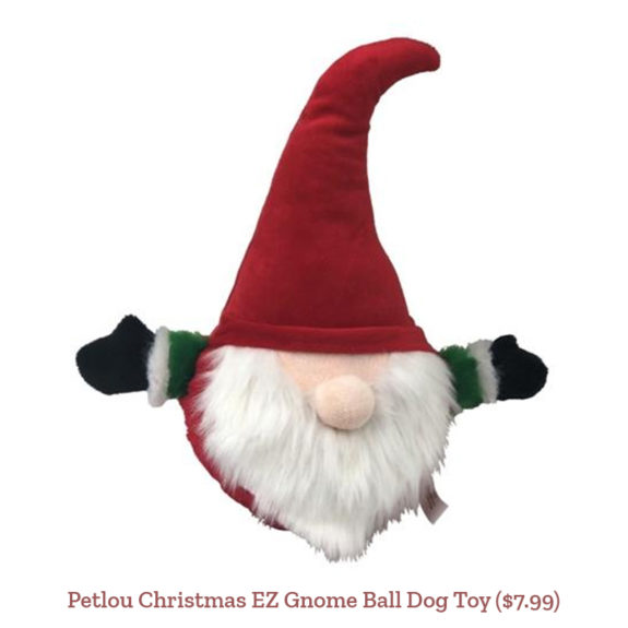 Petlou Christmas EZ Gnome Ball Dog Toy ($7.99)