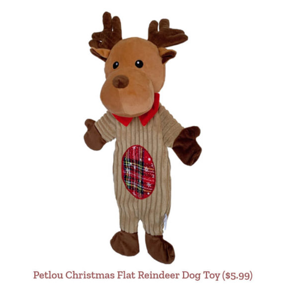 Petlou Christmas Flat Reindeer Dog Toy ($5.99)