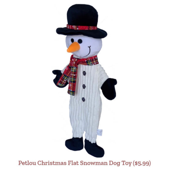 Petlou Christmas Flat Snowman Dog Toy ($5.99)
