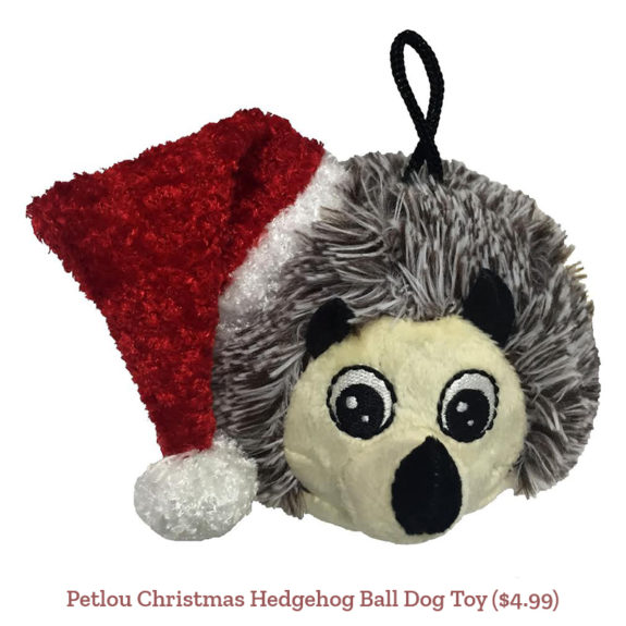 Petlou Christmas Hedgehog Ball Dog Toy ($4.99)