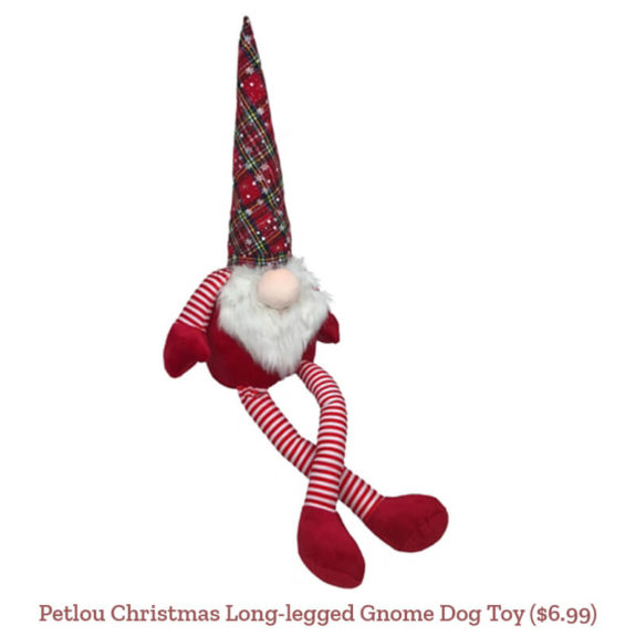 Petlou Christmas Long-legged Gnome Dog Toy ($6.99)