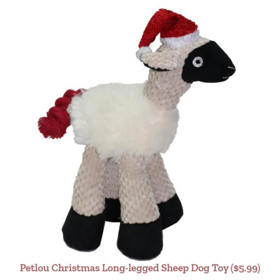 Petlou Christmas Long-legged Sheep Dog Toy ($5.99)