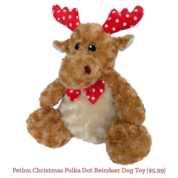Petlou Christmas Polka Dot Reindeer Dog Toy ($5.99)