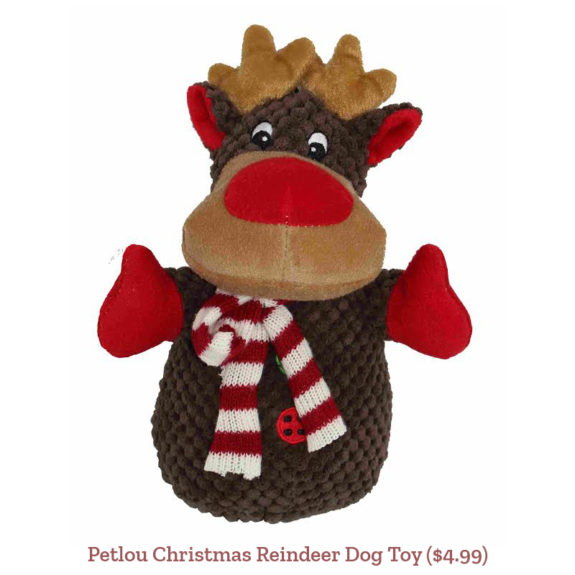 Petlou Christmas Reindeer Dog Toy ($4.99)