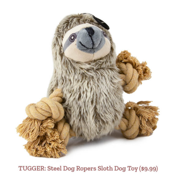 TUGGER: Steel Dog Ropers Sloth Dog Toy ($9.99)