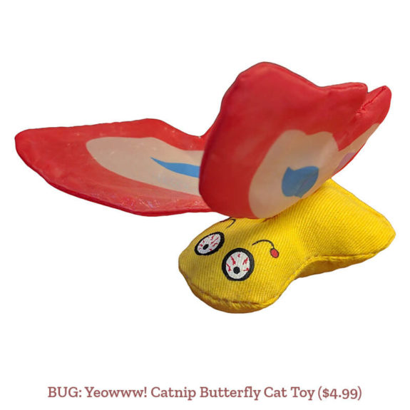BUG: Yeowww! Catnip Butterfly Cat Toy ($4.99)