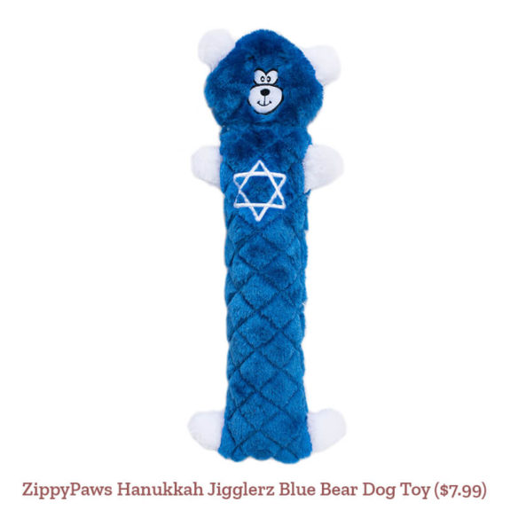ZippyPaws Hanukkah Jigglerz Blue Bear Dog Toy ($7.99)