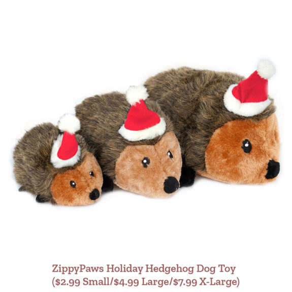 ZippyPaws Holiday Hedgehog Dog Toy ($2.99 Small/$4.99 Large/$7.99 X-Large)