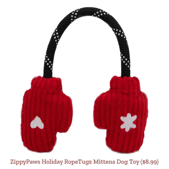 ZippyPaws Holiday RopeTugz Mittens Dog Toy ($8.99)