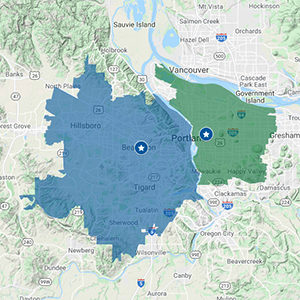 Click to See Portland Delivery Areas