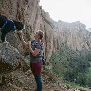Dog and Owner at Smith Rock